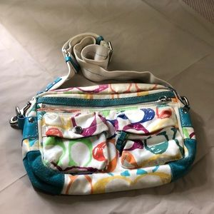 Colorful coach hobo bag